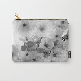 CHERRY BLOSSOMS IN BLACK AND WHITE Carry-All Pouch