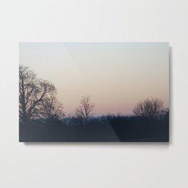 Sunset over Bedfordshire Metal Print