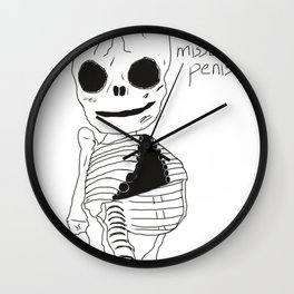 bonesy misses his penis Wall Clock
