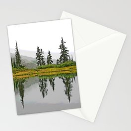 REFLECTIONS ON A PLACID MOUNTAIN LAKE Stationery Cards
