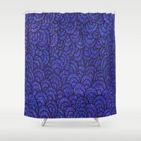 scales Shower Curtains featuring Scales by Francesca Antonet