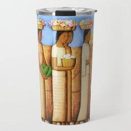 'Vendedoras de Flores' by Alfredo Martinez Travel Mug