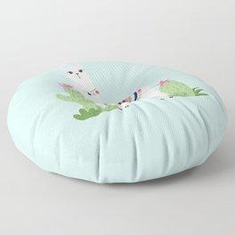 Cute Desert Alpaca Floor Pillow