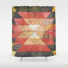 Reclaimed Triangle Pattern Shower Curtain