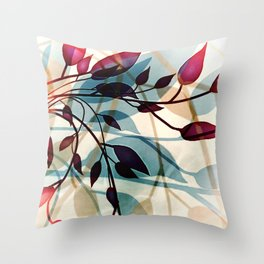 Flood of Leafs Throw Pillow