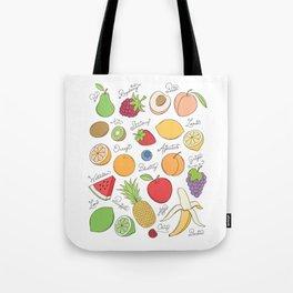 Fruit Doodles Tote Bag