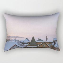 Winter In An Old Mining Town Rectangular Pillow