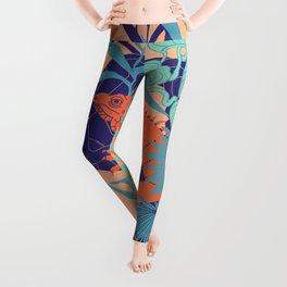 Orange Iguana Leggings