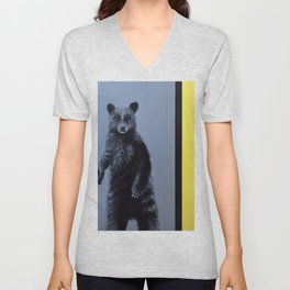 Minimalist Bear Unisex V-Neck