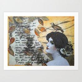 Romantic Lady Art Print
