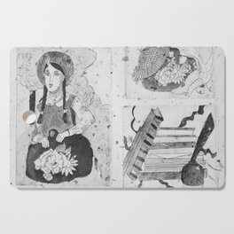 Anne of Green Gables Black & White Cutting Board