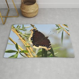 Mourning Cloak Butterfly Sunning Rug