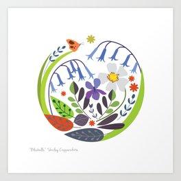 BLUE BELLS PRINT Art Print