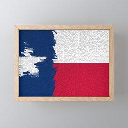Extruded flag of Texas Framed Mini Art Print