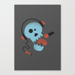 Calavera rockera / Rocking skull Canvas Print