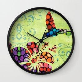 Nature's Harmony 2 - Hummingbird Art By Sharon Cummings Wall Clock