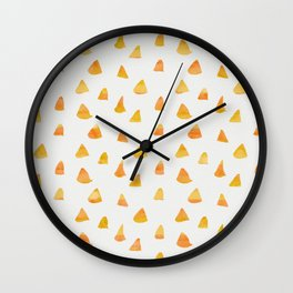 Geometrical orange yellow watercolor hand painted triangles Wall Clock