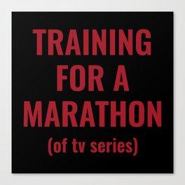Training For A Marathon Canvas Print