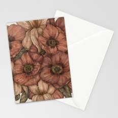 Poppies and Lilies Stationery Cards