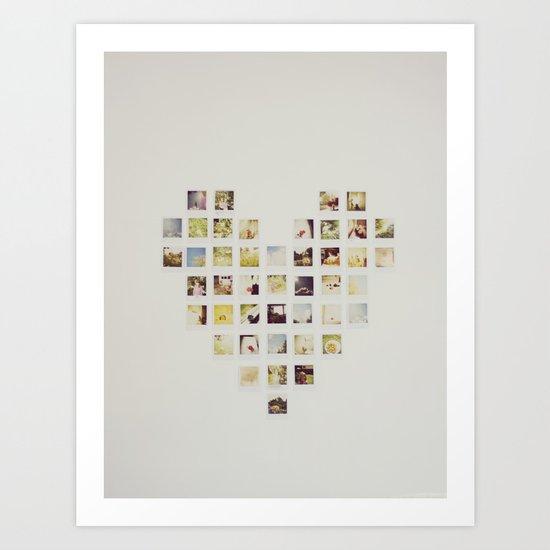 Polaroid Love Art Print