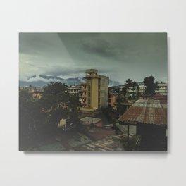 Kathmandu City Roof Top 001 Metal Print