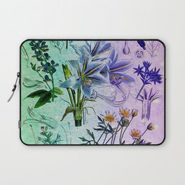 Botanical Study #2, Vintage Botanical Illustration Collage Art Laptop Sleeve