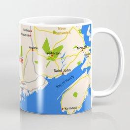 Map of Maine state, USA Coffee Mug