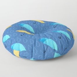 Spring Umbrellas fresh pattern Floor Pillow