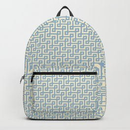 Blue & Yellow Greek Key Pattern Backpack