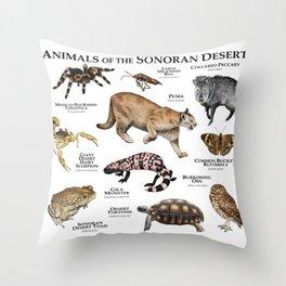 Animals of the Sonoran Desert Throw Pillow