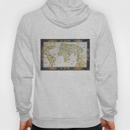 Vintage Map of The World (1566) Hoody