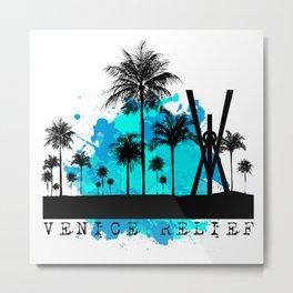 Venice Green Metal Print