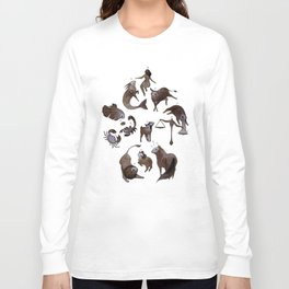 Skeleton zodiac Long Sleeve T-shirt