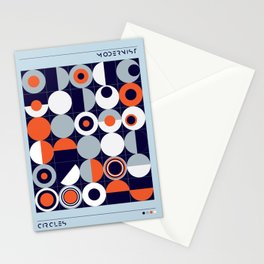 Modernist Circles Stationery Cards