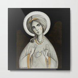 modern folk icon - ANGELUS DOMINI Metal Print