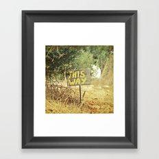 This Way Framed Art Print