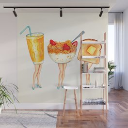 Breakfast Pin-Ups Wall Mural