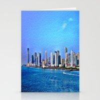 new york skyline Stationery Cards featuring New York  Skyline   by Judy Palkimas