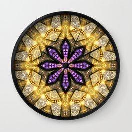 Purple Star Rustica Wall Clock