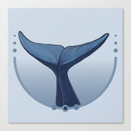 Blue wale tail Canvas Print