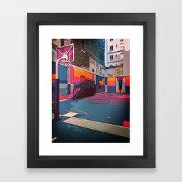 Play the game: Basketballcourt Framed Art Print