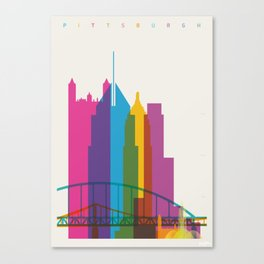 Shapes of Pittsburgh. Accurate to scale Canvas Print