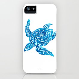 Vintage Hawaiian Tribal Turtle iPhone Case