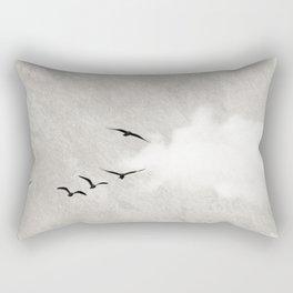 minimal collage /silence Rectangular Pillow