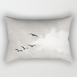 minimal collage /silence Rectangular Pillow