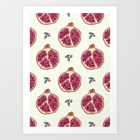 pomegranate garden Art Print