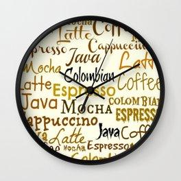 COFFEE LINGO Wall Clock