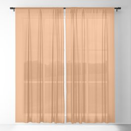 Asymmetrical Glow ~ Apricot Sheer Curtain
