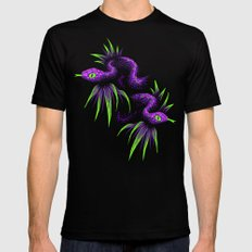 Mr Snake in the Rainforest - Purple Green Black SMALL Mens Fitted Tee
