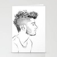 zayn Stationery Cards featuring Zayn by Ashdon Slone